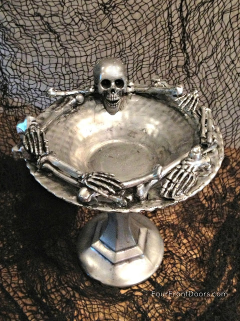skeleton dish empty